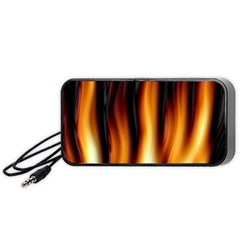 Dark Flame Pattern Portable Speaker (Black)