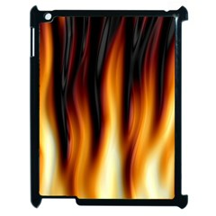 Dark Flame Pattern Apple iPad 2 Case (Black)