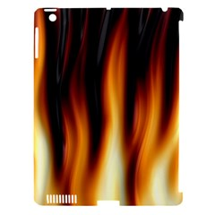 Dark Flame Pattern Apple iPad 3/4 Hardshell Case (Compatible with Smart Cover)