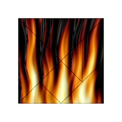 Dark Flame Pattern Acrylic Tangram Puzzle (4  x 4 )