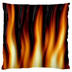 Dark Flame Pattern Large Cushion Case (two Sides)