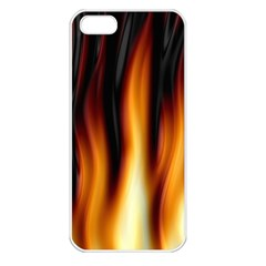 Dark Flame Pattern Apple Iphone 5 Seamless Case (white)