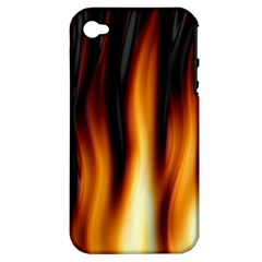 Dark Flame Pattern Apple iPhone 4/4S Hardshell Case (PC+Silicone)