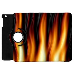 Dark Flame Pattern Apple Ipad Mini Flip 360 Case