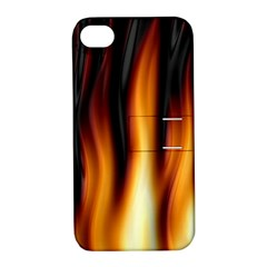 Dark Flame Pattern Apple iPhone 4/4S Hardshell Case with Stand