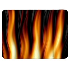 Dark Flame Pattern Samsung Galaxy Tab 7  P1000 Flip Case