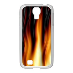 Dark Flame Pattern Samsung Galaxy S4 I9500/ I9505 Case (white)