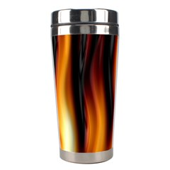 Dark Flame Pattern Stainless Steel Travel Tumblers