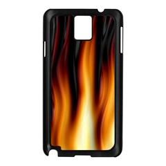 Dark Flame Pattern Samsung Galaxy Note 3 N9005 Case (Black)