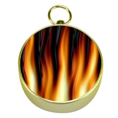 Dark Flame Pattern Gold Compasses