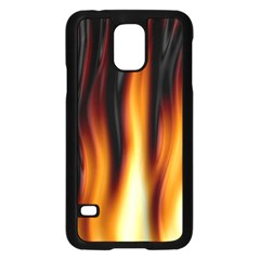 Dark Flame Pattern Samsung Galaxy S5 Case (Black)