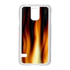 Dark Flame Pattern Samsung Galaxy S5 Case (White)