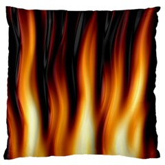 Dark Flame Pattern Standard Flano Cushion Case (two Sides)
