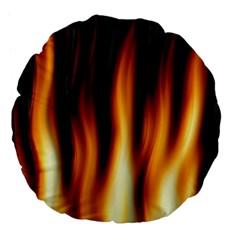 Dark Flame Pattern Large 18  Premium Flano Round Cushions