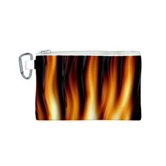 Dark Flame Pattern Canvas Cosmetic Bag (S)