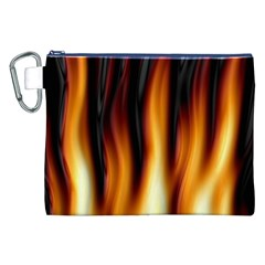 Dark Flame Pattern Canvas Cosmetic Bag (xxl)