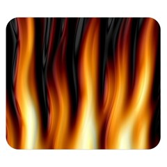 Dark Flame Pattern Double Sided Flano Blanket (Small)