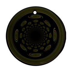 Dark Portal Fractal Esque Background Ornament (Round)
