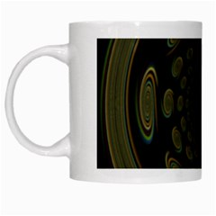 Dark Portal Fractal Esque Background White Mugs