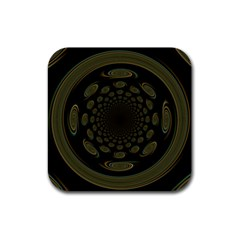Dark Portal Fractal Esque Background Rubber Coaster (Square)