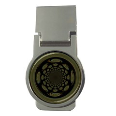 Dark Portal Fractal Esque Background Money Clips (round)