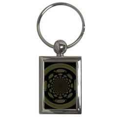 Dark Portal Fractal Esque Background Key Chains (Rectangle)