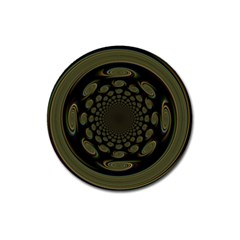 Dark Portal Fractal Esque Background Magnet 3  (Round)