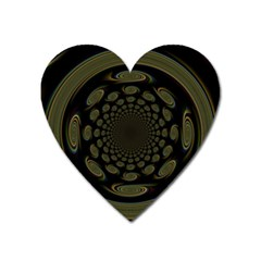 Dark Portal Fractal Esque Background Heart Magnet