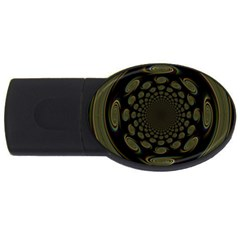Dark Portal Fractal Esque Background USB Flash Drive Oval (2 GB)