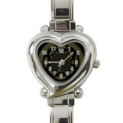 Dark Portal Fractal Esque Background Heart Italian Charm Watch