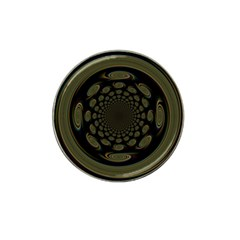 Dark Portal Fractal Esque Background Hat Clip Ball Marker
