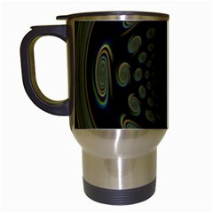Dark Portal Fractal Esque Background Travel Mugs (white)