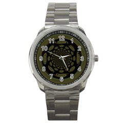Dark Portal Fractal Esque Background Sport Metal Watch