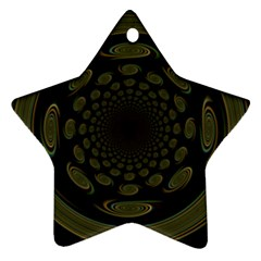 Dark Portal Fractal Esque Background Star Ornament (two Sides)