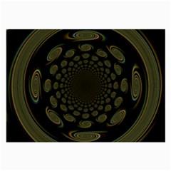 Dark Portal Fractal Esque Background Large Glasses Cloth