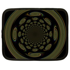 Dark Portal Fractal Esque Background Netbook Case (Large)