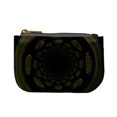 Dark Portal Fractal Esque Background Mini Coin Purses