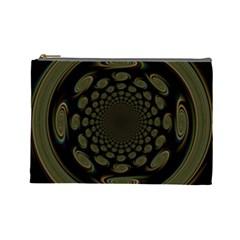 Dark Portal Fractal Esque Background Cosmetic Bag (Large)