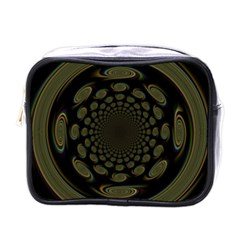 Dark Portal Fractal Esque Background Mini Toiletries Bags