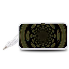 Dark Portal Fractal Esque Background Portable Speaker (White)