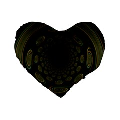 Dark Portal Fractal Esque Background Standard 16  Premium Heart Shape Cushions