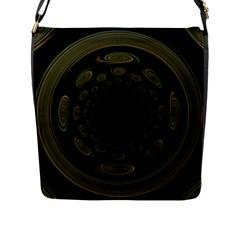 Dark Portal Fractal Esque Background Flap Messenger Bag (L)