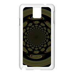 Dark Portal Fractal Esque Background Samsung Galaxy Note 3 N9005 Case (White)