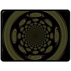 Dark Portal Fractal Esque Background Double Sided Fleece Blanket (Large)