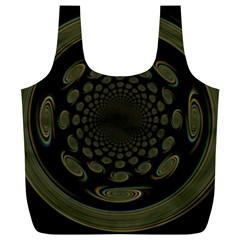 Dark Portal Fractal Esque Background Full Print Recycle Bags (l)
