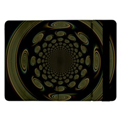 Dark Portal Fractal Esque Background Samsung Galaxy Tab Pro 12 2  Flip Case