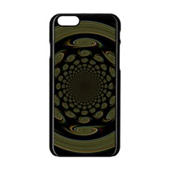 Dark Portal Fractal Esque Background Apple Iphone 6/6s Black Enamel Case