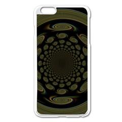Dark Portal Fractal Esque Background Apple Iphone 6 Plus/6s Plus Enamel White Case