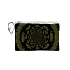 Dark Portal Fractal Esque Background Canvas Cosmetic Bag (S)