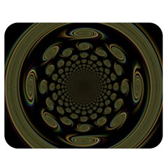 Dark Portal Fractal Esque Background Double Sided Flano Blanket (Medium)